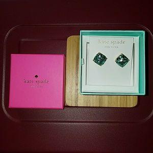 Kate Spade Turquoise Glitter Earrings